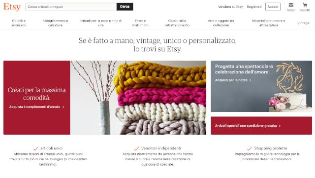 Come vendere oggetti fatti a mano online: etsy.com