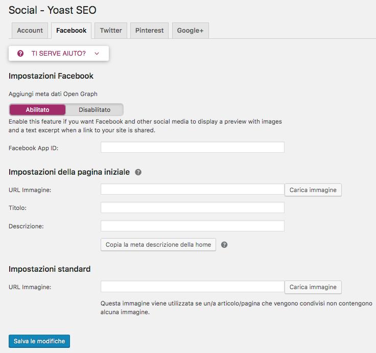 Yoast SEO WordPress: configurare open graph